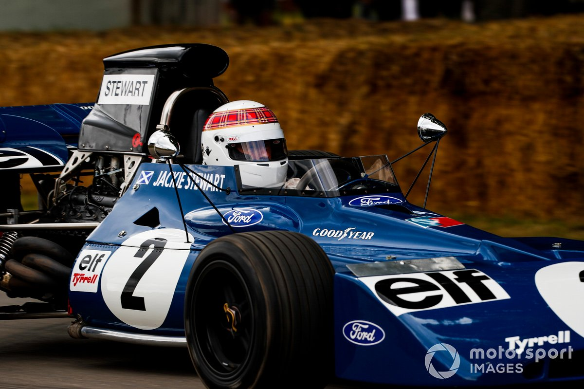 Jackie Stewart au volant de la Tyrrell-Cosworth 006 (1972)