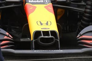 The nose of the Red Bull Racing RB16B