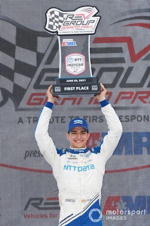 Le vainqueur Alex Palou, Chip Ganassi Racing Honda