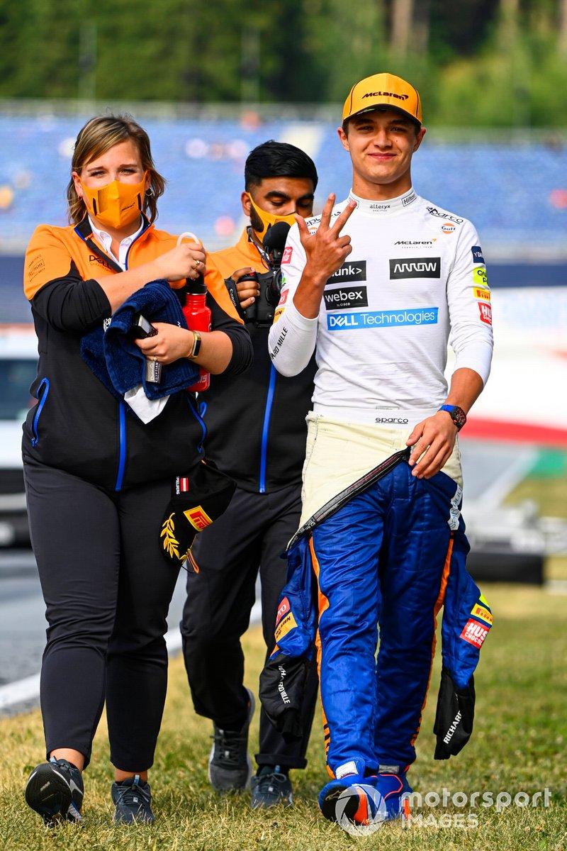 Tercer lugar Lando Norris, McLaren