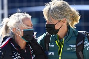 Angela Cullen, Physio for Lewis Hamilton and Britta Roeske, PR Manager for Lewis Hamilton, Mercedes