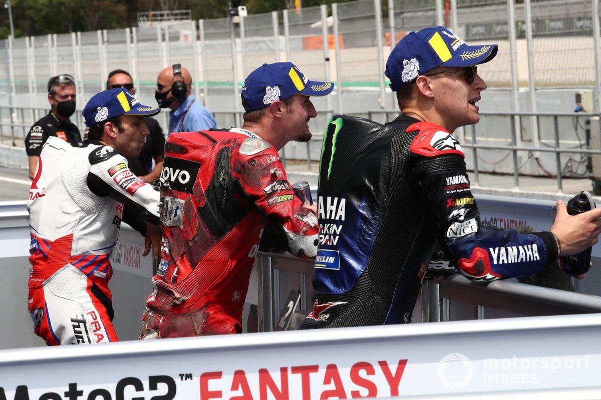Ganador de la pole Fabio Quartararo, Yamaha Factory Racing, segundo Jack Miller, Ducati Team