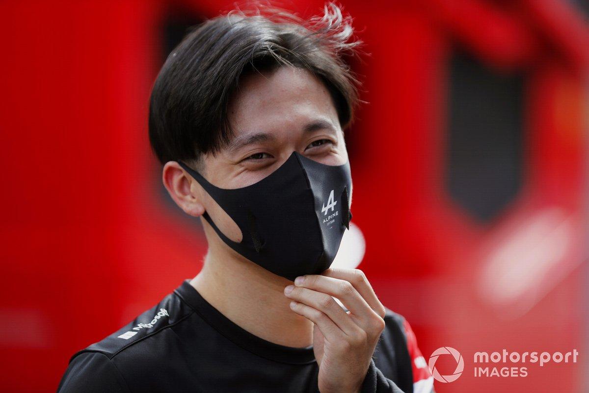 Guanyu Zhou, piloto de pruebas de Alpine F1