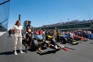Rinus VeeKay, Ed Carpenter Racing Chevrolet, Colton Herta, Andretti Autosport Honda, Scott Dixon, Chip Ganassi Racing Honda on the grid