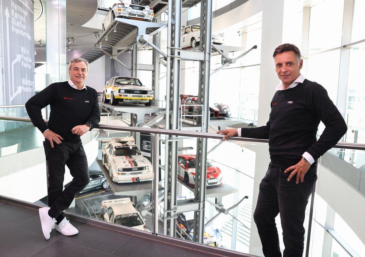 Carlos Sainz, Lucas Cruz, Audi Sport