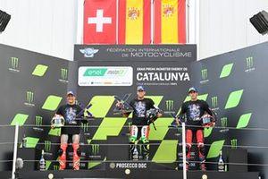 Miquel Pons, LCR E-Team, Dominique Aegerter, Dynavolt Intact GP, Jordi Torres, Pons Racing 40 podium