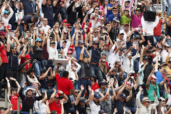 Fans pack the grandstands ready for the race