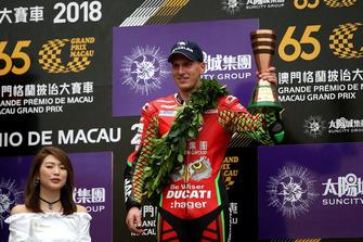 Podium: third place John McGuinness, Tak Chun Group by PBM, Ducati