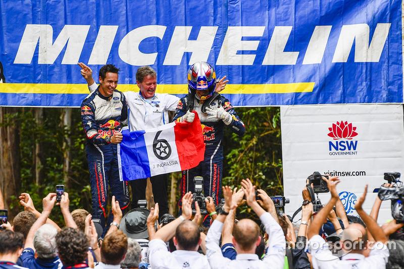 2018 WRC champions Sébastien Ogier, Julien Ingrassia, Ford Fiesta WRC, M-Sport Ford, Malcolm Wilson