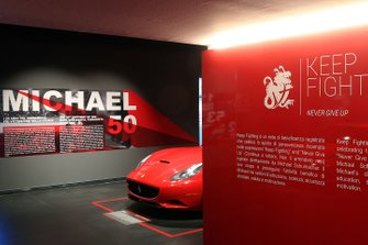 The 'Michael 50' exhibition in the Ferrari Museum in Maranello