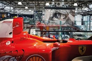 Michael Schumacher F1 cars collection on display