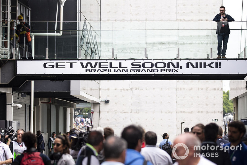 Get well soon message for Niki Lauda, Mercedes AMG F1 Non-Executive Chairman