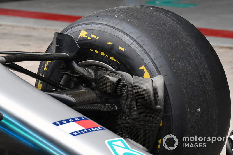 Mercedes-AMG F1 W09 EQ Power+ brake duct detail