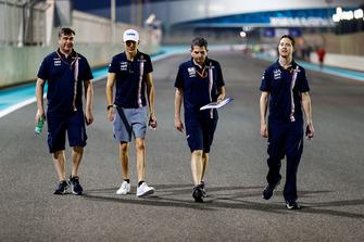 Esteban Ocon, Racing Point Force India, walks the track