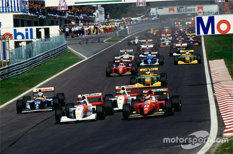 Mika Hakkinen takes the lead on his McLaren debut
