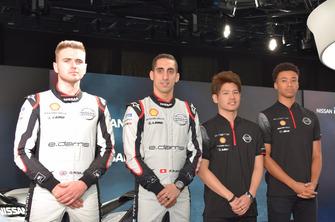 Oliver Rowland, Sébastien Buemi, Mitsunori Takaboshi, Jann Mardenborough, Nissan e.Dams