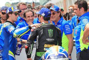 2. Alex Rins, Team Suzuki MotoGP, 3. Johann Zarco, Monster Yamaha Tech 3