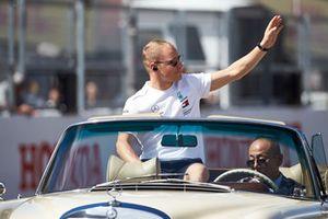 Valtteri Bottas, Mercedes AMG F1, on the drivers parade