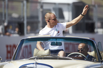 Valtteri Bottas, Mercedes AMG F1, on the drivers parade