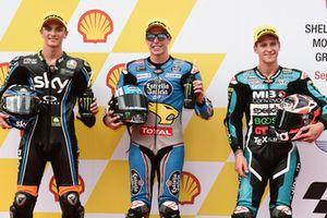 Luca Marini, Sky Racing Team VR46 Alex Marquez, Marc VDS Racing Fabio Quartararo, Speed Up Racing Malaysian