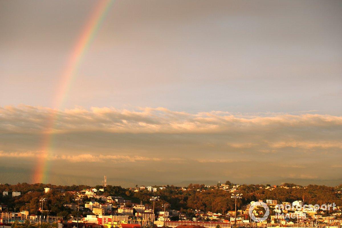 Un arcoíris sobre Sochi