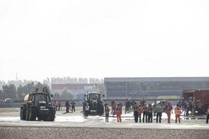 Überschwemmung am TT Circuit Assen