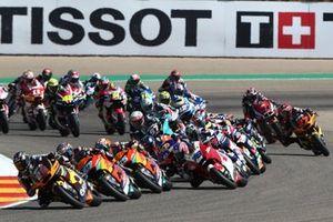 Start zum Moto2-Rennen im Motorland Aragon 2021