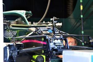 Aston Martin AMR21 dettaglio anteriore