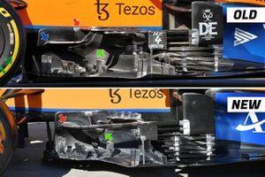 مقارنة بين الألواح الجانبية لسيارة مكلارين ام.سي.آل35ام