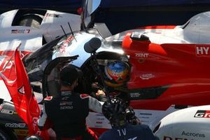 Race winners #7 Toyota Gazoo Racing Toyota GR010 - Hybrid: Mike Conway, Kamui Kobayashi, Jose Maria Lopez