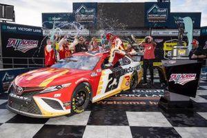 Race winner Bubba Wallace, 23XI Racing, Toyota Camry McDonald's celebrates in victory lane