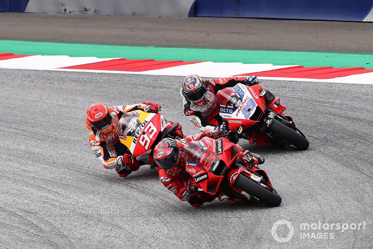 Francesco Bagnaia, Ducati Team Marc Marquez, Repsol Honda Team Jorge Martin, Pramac Racing
