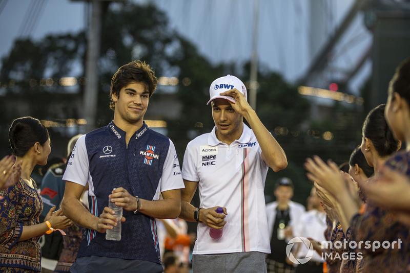 Versenyzői parádé Szingapúrból - F1 2018
