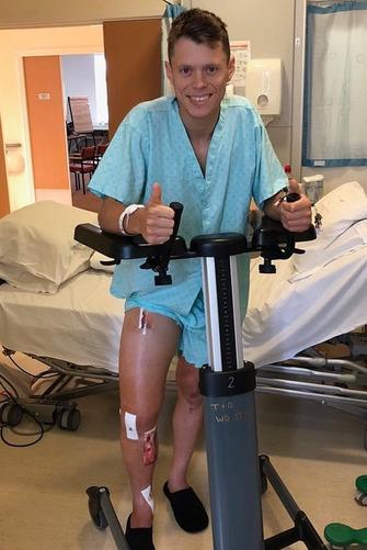Tito Rabat à l'hôpital