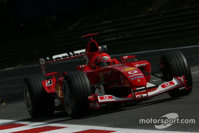 A pole do GP da Itália de 2003 foi a 55ª de Schumacher na Fórmula 1