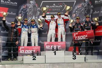 Podium: Race winners #88 Akka ASP Team Mercedes-AMG GT3: Raffaele Marciello, Michael Meadows, second place #25 Sainteloc Racing Audi R8 LMS: Simon Gachet, Christopher Haase, third place #66 Attempto Racing Audi R8 LMS: Steijn Schothorst, Kelvin van der Linde