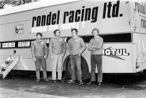 Rondel Racing F2 Team including: Clive Walton, Ron Dennis, Neil Trundle and Preston Anderson