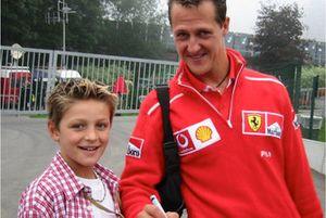 Michael Plooij en Michael Schumacher