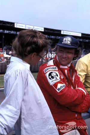 Niki Lauda, Ferrari with his wife Marlene Knaus
