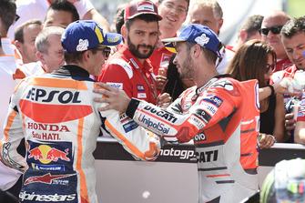 Second place Marc Marquez, Repsol Honda Team, third place Andrea Dovizioso, Ducati Team