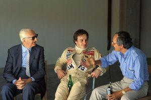 Enzo Ferrari, Gilles Villeneuve, Ferrari and Roberto Nosetto