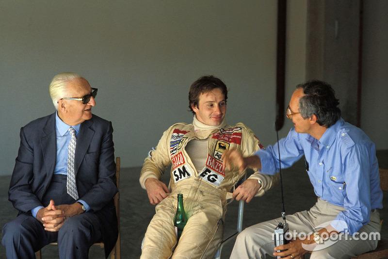 Enzo Ferrari, Gilles Villeneuve, Ferrari e Roberto Nosetto