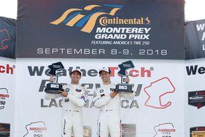 #25 BMW Team RLL BMW M8, GTLM: Alexander Sims, Connor de Phillippi, podium