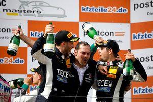 Podium: Winner #20 Team Zakspeed BKK Mobil Oil Racing Mercedes-AMG GT3: Kim-Luis Schramm, Nicolai Sylvest
