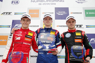 Rookie Podium: Winner Robert Shwartzman, PREMA Theodore Racing Dallara F317 - Mercedes-Benz, second place Marcus Armstrong, PREMA Theodore Racing Dallara F317 - Mercedes-Benz, third place Jonathan Aberdein, Motopark Dallara F317 - Volkswagen