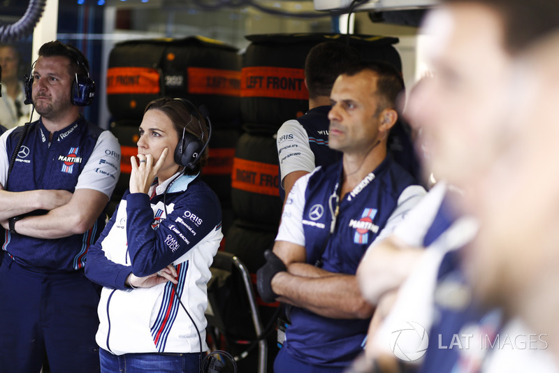 Claire Williams, directora Williams Martini Racing