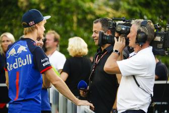 Brendon Hartley, Scuderia Toro Rosso, parle aux médias