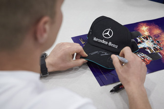 Valtteri Bottas, Mercedes AMG F1, signs autographs and poses for pictures with fans