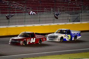 Cory Roper, Roper Racing, Ford F-150 Preferred Industrial Contractors Inc. and Jordan Anderson, Jordan Anderson Racing, Chevrolet Silverado Lucas Oil