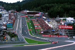 Start action at Eau Rouge